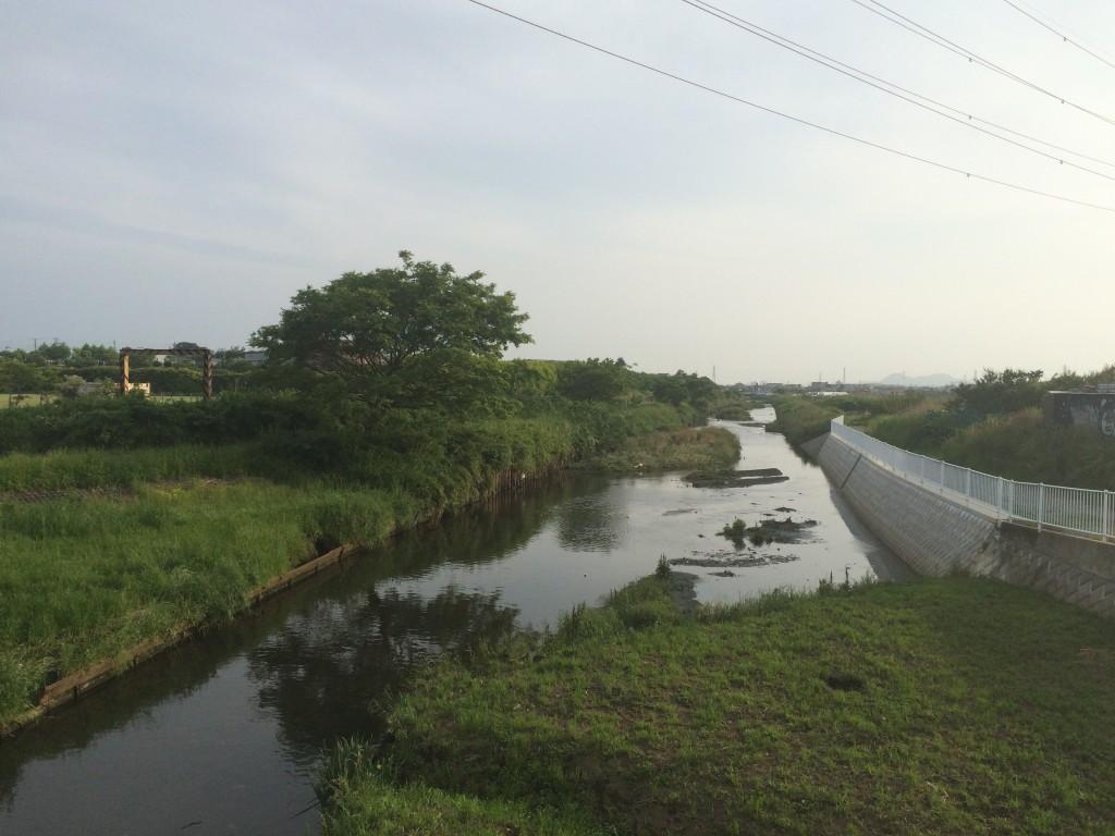 よく氾濫する小出川 茅ヶ崎と寒川の境から