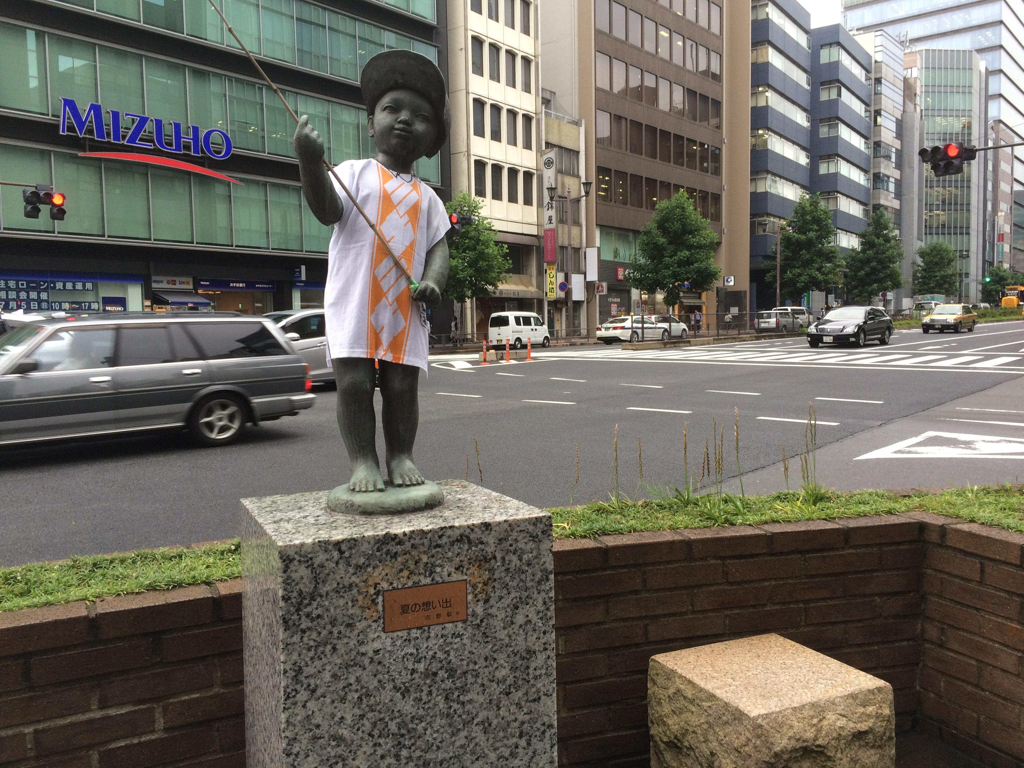 7月の銅像