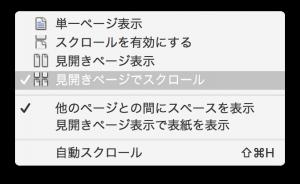 見開きページ表示の設定2