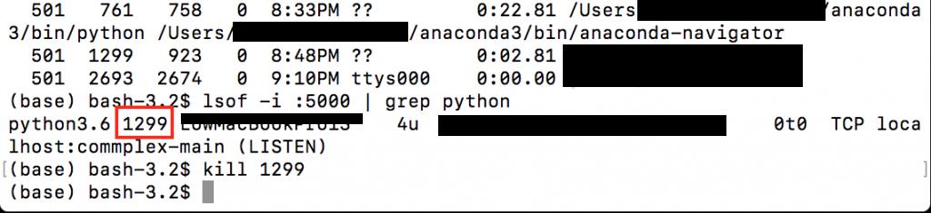 OSError: [Errno 48] Address already in use